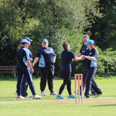 Pitching for new female players at Anston Cricket Club